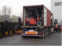 wózek widłowy dostawa do firmy saw-trak